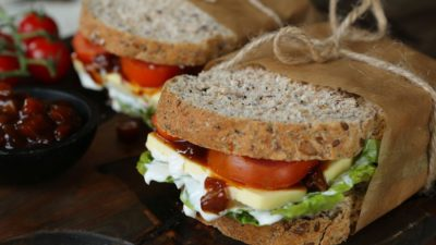 Vegan Cheese Ploughman's Sandwich